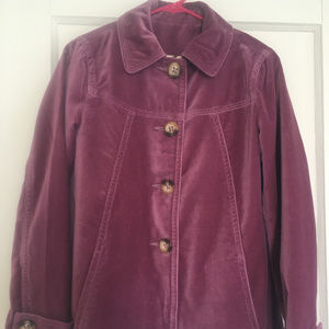 Boden Velvet Coat Clover (Size UK8/US S) Used